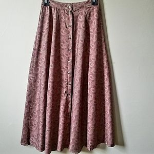 Woolrich Vintage Midi Paisley Button Front Skirt